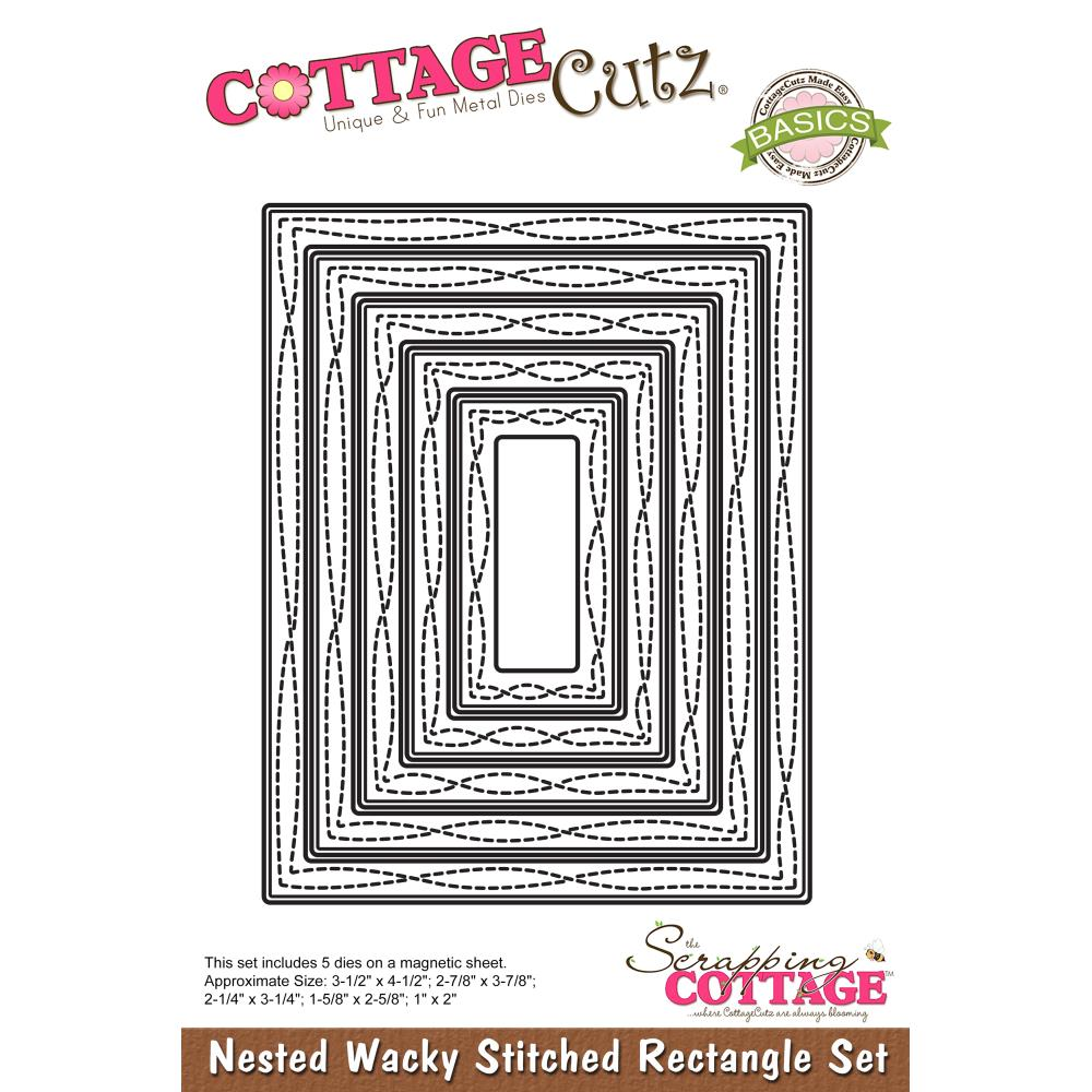 Die COTTAGE CUTZ - Nested Stiched Rectangle set